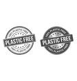 grunge stamp and silver label plastic free vector image vector image