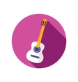 Guitar Beach flat icon with long shadow vector image vector image