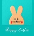 happy easter cartoon easter bunny vector image vector image