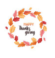 happy thanksgiving holiday typography poster vector image vector image
