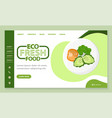 healthy ingredients blog with diet levels vector image
