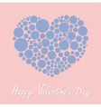 Heart made from many round dots Happy Valentines vector image vector image