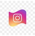 instagram social media icon design template vector image vector image
