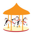 isolated carnival carousel icon vector image