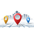 location check road pins vector image vector image