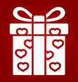 love present glyph icon valentines day vector image vector image