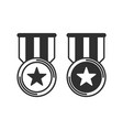 medal icon set vector image vector image