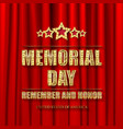 memorial day greeting card vector image vector image