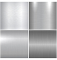 Metal polished textures vector image vector image