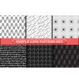 minimalist simple line geometric seamless pattern vector image vector image
