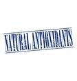 natural antioxidants blue grunge vintage stamp vector image vector image