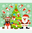 new year background card with santa claus vector image