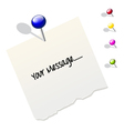 Note Paper design vector image vector image