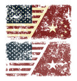 old scratched flags of usa vector image