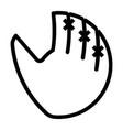 outline beautiful baseball glove icon vector image vector image