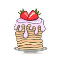 pancakes baking with syrup and vector image vector image