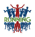 people run runner marathon running vector image vector image