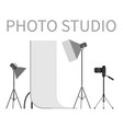 photo studio professional light focusing spotlight vector image vector image