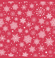 pink red hand drawn christmass snowflakes vector image