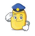 police potato chips character cartoon vector image vector image