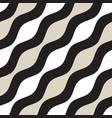 seamless geometric pattern monochrome wavy vector image