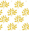 seamless yellow leaves pattern on white vector image vector image