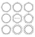set of decorative round frames vintage style vector image vector image