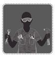 silhouette avatar boy vector image vector image