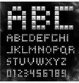 silver pixel font with stud