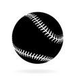 simple black baseball vector image