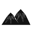 snow peak icon simple style vector image