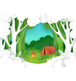 summer camping in forest vector image