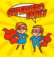superhero family superheroes cartoon character vector image vector image