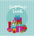 suprise inside gift boxes vector image vector image