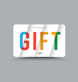 template of a gift card of white color with vector image vector image