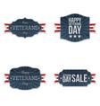 veterans day patriotic badges set vector image