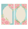 Vintage labels with flowers vector image vector image