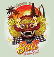 welcome to bali design vector image vector image