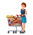 woman in supermarket vector image vector image