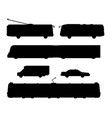 city transport public industry black silhouette vector image