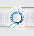 white abstract futuristic technology vector image