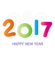 2017 Happy New Year greeting card vector image
