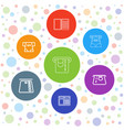 7 withdraw icons vector image vector image