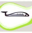 Airplane Retro-style emblem icon pictogram EPS 10 vector image vector image