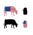 American milk cow vector image vector image