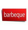 barbeque red paper sign isolated on white vector image vector image