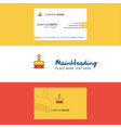 beautiful brush logo and business card vertical vector image