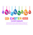 big easter sale template background poster holiday vector image vector image