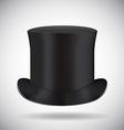 Black top hat isolated on white vector image vector image
