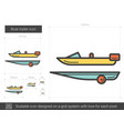 boat trailer line icon vector image